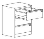 99551794 Szafka kartotekowa z blokadą wysuwu 1,0mm, 3 szuflady (wymiary: 1000x775x630 mm)