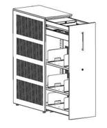99551918 Szafka przybiurkowa, 3 półki, front z melaminy (wymiary: 1320x438x800 mm)
