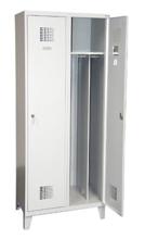99551957 Szafka ubraniowa 0,8mm na nóżkach, 2 drzwi, zamek cylindryczny zamykany w 1 punkcie (wymiary: 1940x600x500 mm)