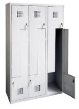 99551990 Szafka ubraniowa 0,5mm, 6 drzwi w kształcie L (wymiary: 1800x1200x500 mm)