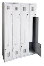 99551998 Szafka ubraniowa 0,8mm, 8 drzwi w kształcie L (wymiary: 1800x1200x500 mm)