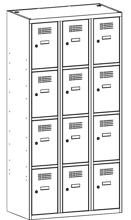 99552082 Szafka ze schowkami 0,8mm, 12 drzwi (wymiary: 1800x900x500 mm)
