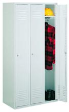 99552143 Szafka ubraniowa 0,6mm, zamek na kłódkę, 3 drzwi (wymiary: 1800x1200x490 mm)