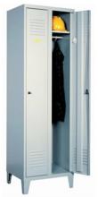 99552154 Szafka ubraniowa 0,8mm na nóżkach, zamek na kłódkę, 2 drzwi (wymiary: 1940x600x490 mm)