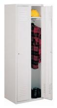 99552168 Szafka ubraniowa 0,8mm, zamek na kłódkę, 2 drzwi (wymiary: 1800x800x490 mm)