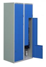 99552221 Szafka ubraniowa 0,6-0,8mm, 4 drzwi w kształcie L (wymiary: 1800x800x490 mm)