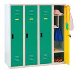 99552325 Szafka dla przedszkolaków, 4 drzwi, wersja lux (wymiary: 1350x1200x500 mm)