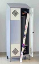 99552434 Szafa do przechowywania nart i sprzętu narciarskiego, 2 drzwi (wymiary: 2140x800x490 mm)