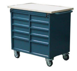 99552462 Szafka warsztatowa na kółkach, 10 szuflad (wymiary: 928x961x600 mm)