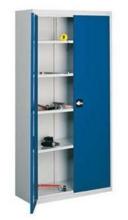 99552470 Szafa warsztatowa, 4 półki , 2 drzwi (wymiary: 1980x1000x420 mm)