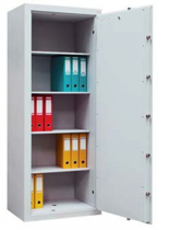 99552666 Sejf gabinetowy dwupłaszczowy 0 klasy, 4 półki, 1 drzwi (wymiary: 1800x640x435 mm)