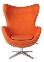 99851005 Fotel Jajo inspirowany Egg szeroki wełna (kolor: pomarańczowy)
