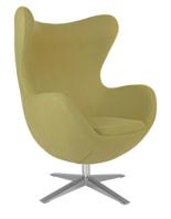99851009 Fotel Jajo inspirowany Egg szeroki tkanina (kolor: oliwkowy)
