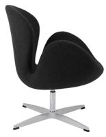 99851027 Fotel Cup inspirowany projektem Swan kaszmir (kolor: ciemnoszary)