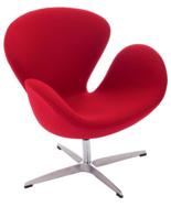 99851034 Fotel Cup inspirowany projektem Swan kaszmir (kolor: czerwony)