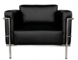 99851036 Fotel Soft Grand Comfort inspirowany projektem LC3 Grand Com (kolor: czarny)