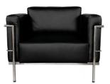 99851037 Fotel Soft Grand Comfort inspirowany projektem LC3 Grand Com (kolor: biały)