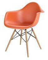 99854300 Krzesło P018W inspirowane DAW (kolor: pomarańczowy)
