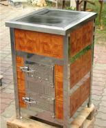 DOSTAWA GRATIS! 00350310 Piec grzewczy na węgiel 8kW Duży, drzwi chrom z płaszczem wodnym (wylot spalin: tył)