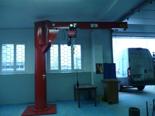 DOSTAWA GRATIS! 03058381 Żuraw słupowy obrotowy + wciągnik łańcuchowy elektryczny na wózku elektrycznym z elementami odpornymi na korozję (udźwig: 1000 kg, długość ramienia: 4000 mm)