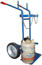 DOSTAWA GRATIS! 13340554 Wózek dwukołowy spawalniczy do przewozu butli gazowych (nośność: 400 kg)