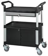 DOSTAWA GRATIS! 39955505 Wózek warsztatowy, 2 półki, 2 drzwiczki, 1 szuflada