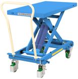 DOSTAWA GRATIS! 39955552 Wózek platformowy nierdzewny nożycowy ze sprężyną (wysokość podnoszenia: 350x770 mm,wymiary: 813x500mm, udźwig: 210 kg)