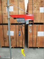 DOSTAWA GRATIS! 55547202 Wciągarka budowlana elektryczna + zdalne sterowanie z niskim napięciem (udźwig: 200 kg, długość liny: 40m)