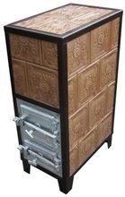 DOSTAWA GRATIS! 92238182 Piec grzewczy kaflowy 9,5kW Retro czterowarstwowy na drewno i węgiel (kolor: zieleń, wysokość: 100cm)