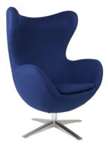 DOSTAWA GRATIS! 99851010 Fotel Jajo inspirowany Egg szeroki wełna (kolor: niebieski)