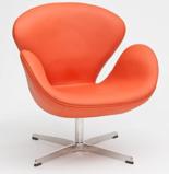 DOSTAWA GRATIS! 99851013 Fotel Cup inspirowany projektem Swan skóra (kolor: pomarańczowy)