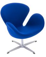 DOSTAWA GRATIS! 99851026 Fotel Cup inspirowany projektem Swan kaszmir (kolor: atramentowy)