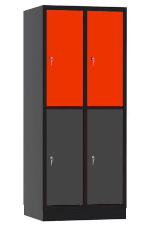 00141920 Szafa skrytkowa, 2 segmenty, 4 skrytki (wymiary: 1950x810x480 mm)