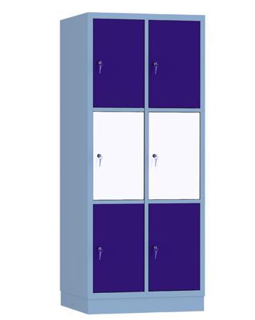 00141921 Szafa skrytkowa, 2 segmenty, 6 skrytek (wymiary: 1950x810x480 mm)