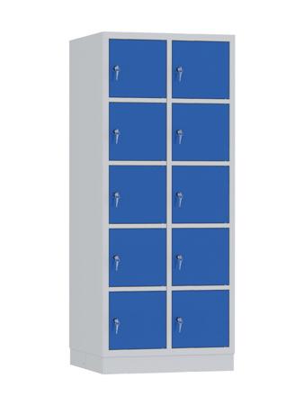 00141923 Szafa skrytkowa, 2 segmenty, 10 skrytek (wymiary: 1950x810x480 mm)