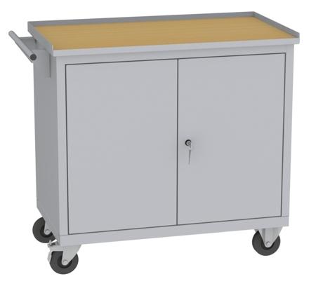 00142048 Wózek narzędziowy, 2 drzwi (wymiary: 860x950x505 mm)