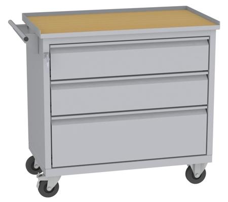 00142051 Wózek narzędziowy, 3 szuflady (wymiary: 860x950x505 mm)