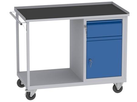 00142070 Wózek platformowy, 1 drzwi, 1 szuflada (wymiary: 890x1150x590 mm)