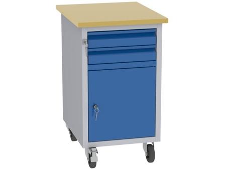 00142077 Wózek platformowy, 1 drzwi, 2 szuflady (wymiary: 830x505x605 mm)