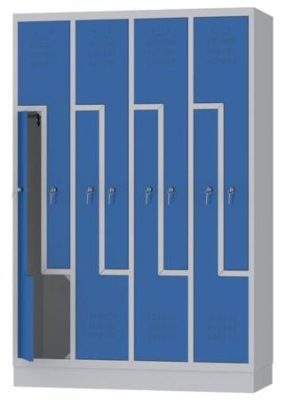 00150387 Szafa ubraniowa L, 4 segmenty, 8 drzwi (wymiary: 1800x1190x480 mm)