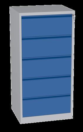 00150464 Szafa kartotekowa na teczki A4 poziome, 2 rzędy, 5 szuflad (wymiary: 1570x770x630 mm)
