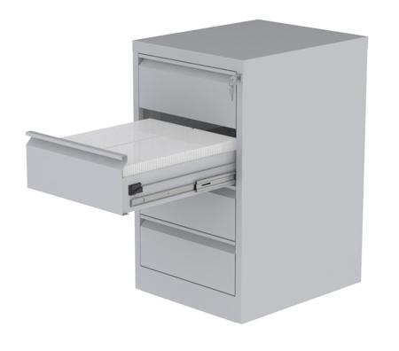 00150466 Szafa kartotekowa na teczki A5 poziome, 2 rzędy, 4 szuflady (wymiary: 900x525x630 mm)