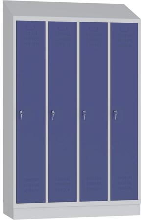 00150522 Szafa ubraniowa z daszkiem, 4 segmenty, 4 drzwi (wymiary: 1985x1190x480 mm)