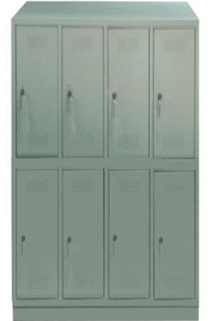 00150541 Szafa skrytkowa z daszkiem, 4 segmenty, 8 skrytek (wymiary: 2135x1190x480 mm)