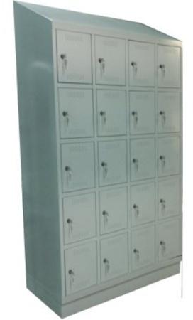 00150544 Szafa skrytkowa z daszkiem, 4 segmenty, 20 skrytek (wymiary: 2135x1190x480 mm)