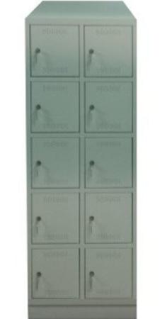 00150554 Szafa skrytkowa z daszkiem, 2 segmenty, 10 skrytek (wymiary: 2135x710x480 mm)