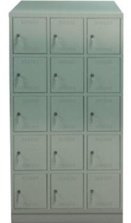 00150559 Szafa skrytkowa z daszkiem, 3 segmenty, 15 skrytek (wymiary: 2135x1050x480 mm)