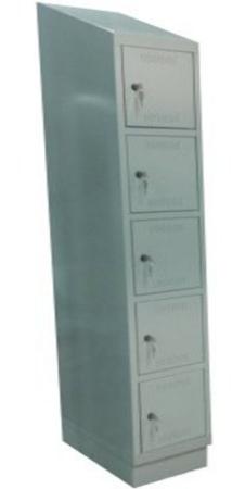 00150564 Szafa skrytkowa z daszkiem, 1 segment, 5 skrytek (wymiary: 2135x420x480 mm)