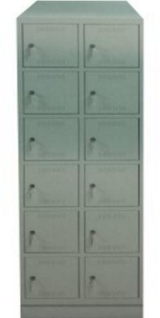 00150570 Szafa skrytkowa z daszkiem, 2 segmenty, 12 skrytek (wymiary: 2135x810x480 mm)