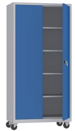 00150600 Szafa na akta na kółkach, 2 drzwi (wymiary: 1950 + koła x1000x500 mm)